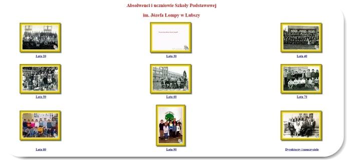Absolwenci i uczniowie SP Lubsza